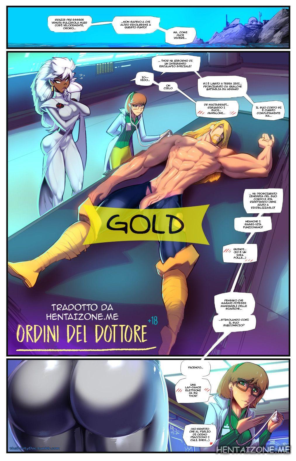 thor e tempesta finiscono a letto in una storia a fumetti hentai italiano porno