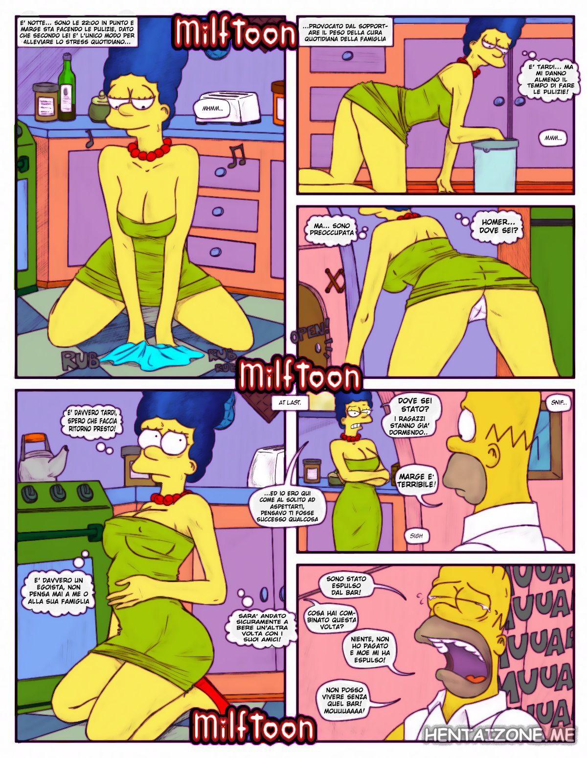 simposn marge pulisce la cucina quasi nuda sexy marge fa vedere le mutandine e le tette hentai marge simpson hentai porno milf full color
