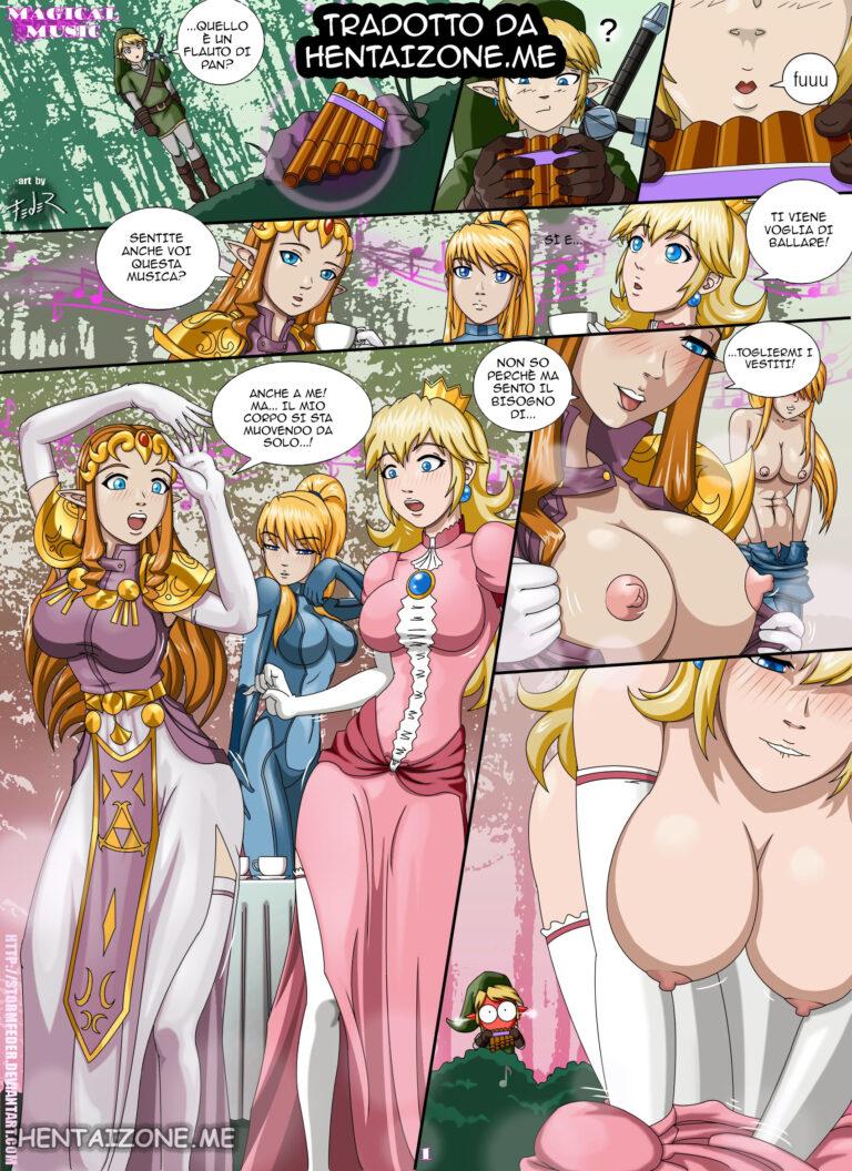 hentai italiano porno fumetto sexy zelda peach bionda lesbica porno